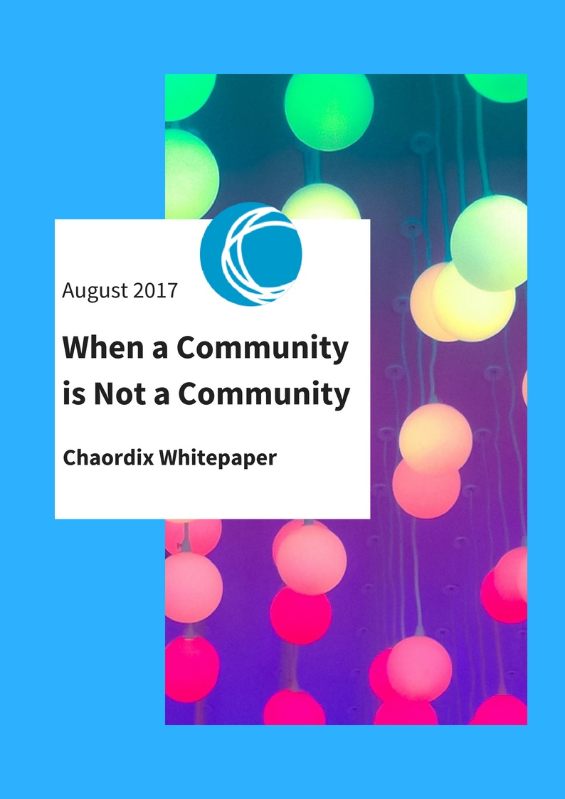 Whitepaper - when a community is not a community